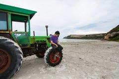 Traktoren på udden Bridgewater Royaltyfri Bild
