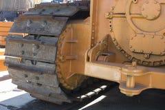 traktoren står på snön Royaltyfria Bilder