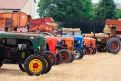 Traktorer i perspektiv Royaltyfria Foton
