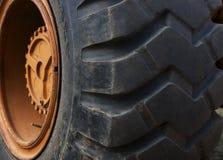 Traktorgummireifen Stockfoto