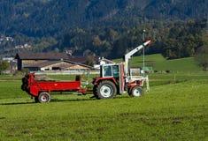traktorsläp Arkivbild