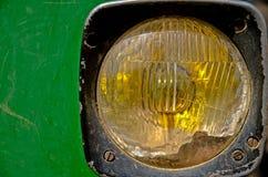 traktortappning för främre lampa Royaltyfri Fotografi
