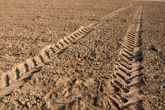 traktortrail Arkivfoto