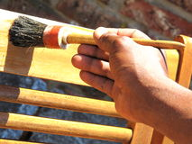 traktowania drewno Zdjęcia Royalty Free