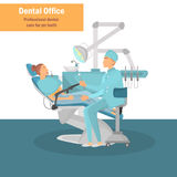 Traktowanie dla dentysty koloru ilustraci dla sieci i mobilnego projekta Obraz Stock
