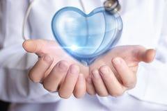 Traktowanie i diagnoza serce Zdjęcia Stock