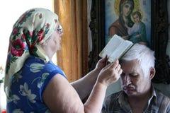 Traktowanie modlitwa Obrazy Stock