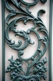 Traliccio decorativo con scrolling Fotografie Stock Libere da Diritti