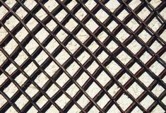 Traliccio del giardino sulla parete Fotografie Stock Libere da Diritti
