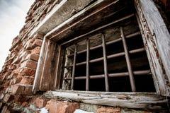 Traliewerk op het venster Royalty-vrije Stock Afbeeldingen