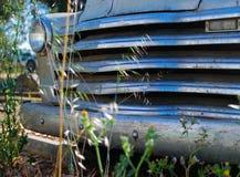 Traliewerk van Verlaten Auto Royalty-vrije Stock Foto's