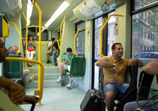 Tram à Rome Images libres de droits