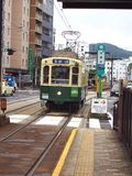 Tram électrique de Nagasaki au Japon Photo stock