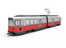 Tram électrique rouge d'isolement Illustration Libre de Droits