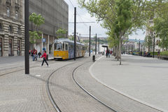 Tram линия никакие 2, Будапешт, Венгрия Стоковое Фото