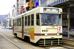 The Tram. The Hakodate Transportation Bureau is a public transportation authority of Hakodate, Japan Royalty Free Stock Images