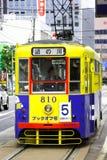 The Tram. The Hakodate Transportation Bureau is a public transportation authority of Hakodate, Japan Stock Photos