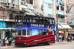Tram. In the Hong Kong Royalty Free Stock Photos
