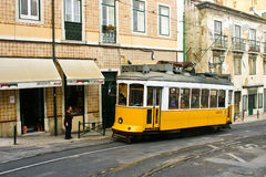 Tram 28, Lisbon royalty free stock images