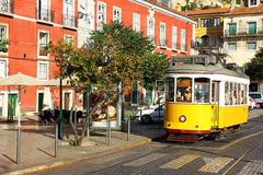 Tram 28, Lisbon, Portugal Stock Photos