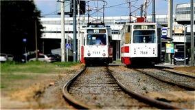 Tram stock video footage