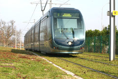 Tram. Of Bordeaux France Royalty Free Stock Photography