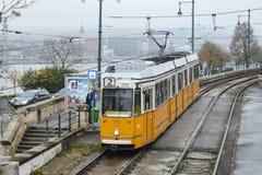 Tram along Budapest, Hungary Stock Photography