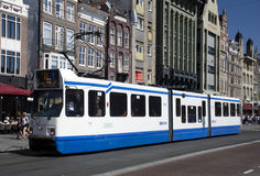 Tram Amsterdam Stock Foto's