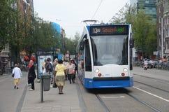 Tram in Amsterdam Royalty-vrije Stock Afbeeldingen