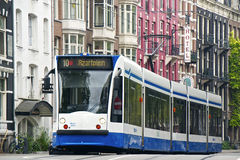 Tram in Amsterdam Stock Image