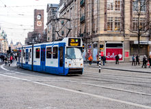 Tram in Amsterdam, Netherlands Royalty Free Stock Photos
