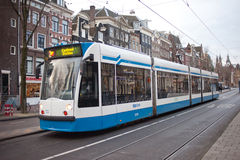 A tram in Amsterdam Stock Photography
