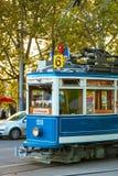 Tram ancien à Zurich, Suisse photographie stock libre de droits