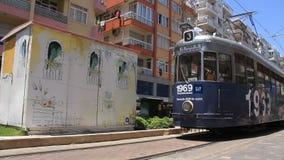 Tram in Antalya, Turkey. TURKEY, ANTALYA, JUNE 21: 2011: City tram in Antalya, Turkey, June 21, 2011 stock video