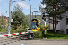 Tram in Arlesheim Fotografie Stock