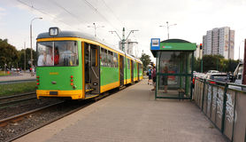 Tram arrival Royalty Free Stock Photos