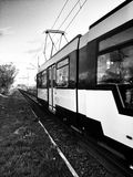 Tram. Artistic look in black and white. Stock Images