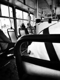 In the tram. Artistic look in black and white. Stock Photography