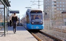 Tram att Valla torg Stock Images