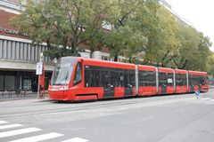 Tram auf der Bratislava-Stra?e lizenzfreie stockbilder