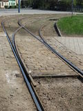 Tram-Bahnen Lizenzfreie Stockfotografie