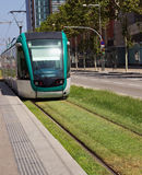 Tram in Barcelona Royalty Free Stock Image