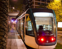 Tram in Barcelona Royalty Free Stock Photo