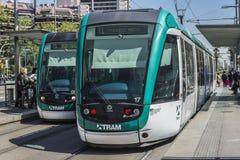 Tram in Barcelona Stock Images