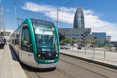 Tram in Barcelona Royalty Free Stock Photography