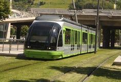Tram. Bilbao, Euskadi, Spain. Basque Country. Tram, green transport in the city of Bilbao, Euskadi, Spain. Basque Country Stock Photo