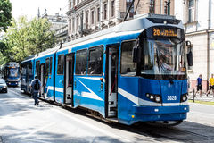 Tram (blue) Stock Photo
