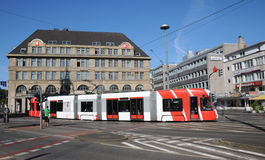 Tram Bombardier  in Krefeld Royalty Free Stock Images