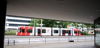 Tram Bombardier  in Krefeld Stock Image