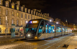 A tram in Bordeaux Stock Image